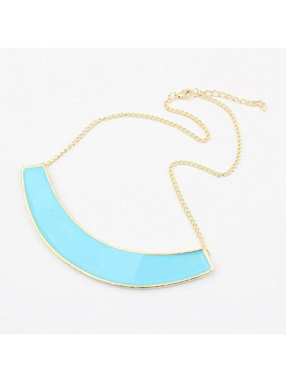 latest Exaggerated Chic Style Solid Color Semiarc Pendants Women's Alloy Necklace - COLOR ASSORTED