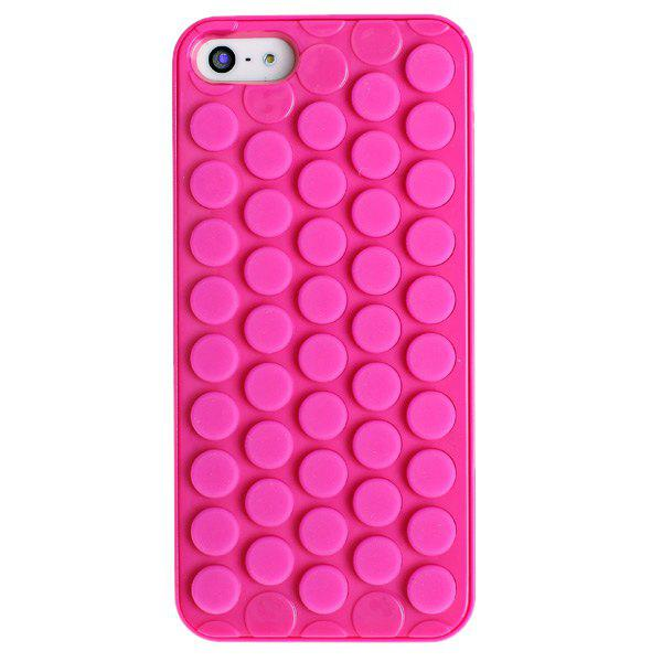 Popular Circular Design Flexible Silicone Shockproof Case Cover for iPhone 5 IE0441803