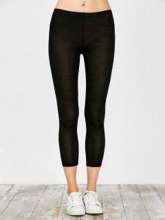 Stretchy Modal Cotton Leggings - Black