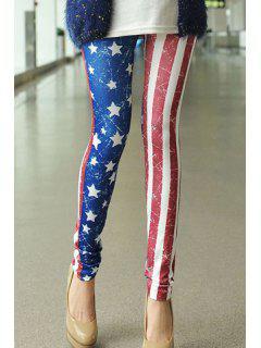 Flag Print Leggings