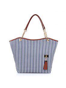 المرأة سيدة الشارع التقط حقيبة قماش حقيبة يد - أزرق