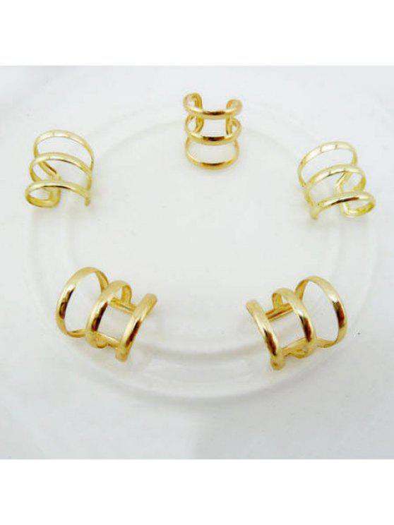 shops One Piece Chic Openwork Circle Ring For Women - COLOR ASSORTED ONE SIZE