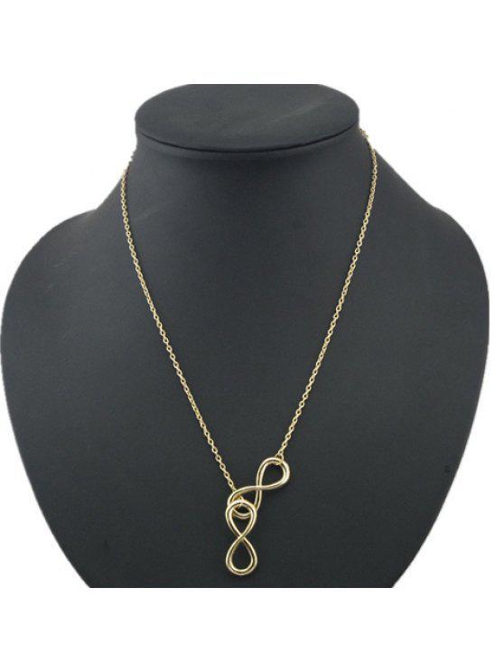 unique Chic Eight Pendant Necklace For Women - GOLDEN