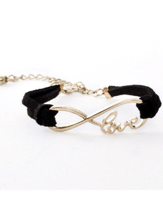 new Infinity Love Adjustable Bracelet - BLACK