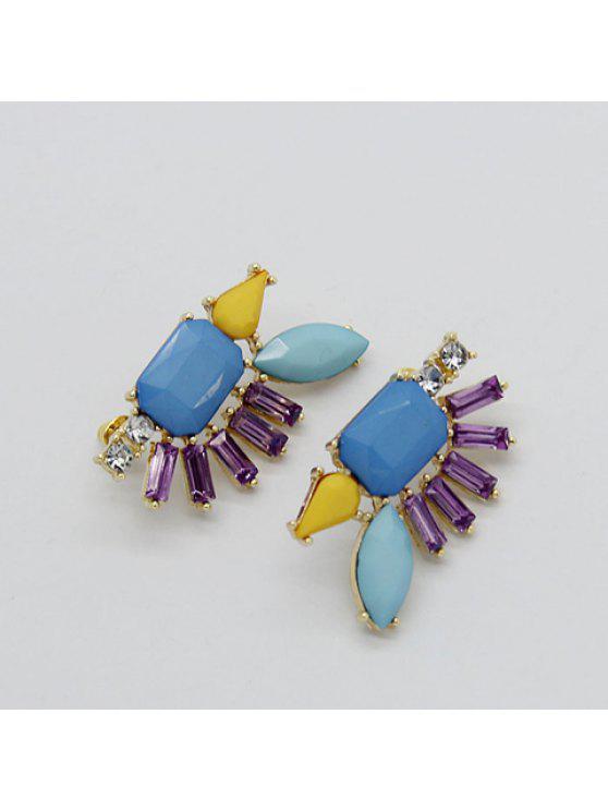 buy Pair of Stylish Bohemian Stud Earrings For Women - BLUE