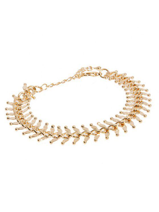 unique Sweet Fishbone Bracelet For Women - GOLDEN