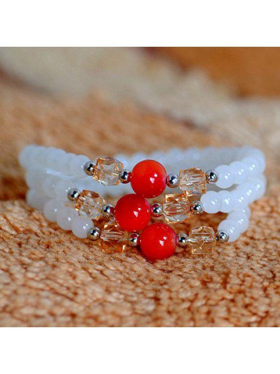latest Fashion Beads Colored Layered Bracelet For Women - COLOR ASSORTED