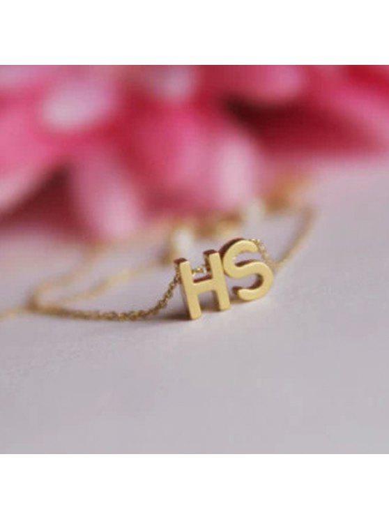 women Exquisite Letter Pendant Simple Design Anklet For Women - RANDOM COLOR PATTERN