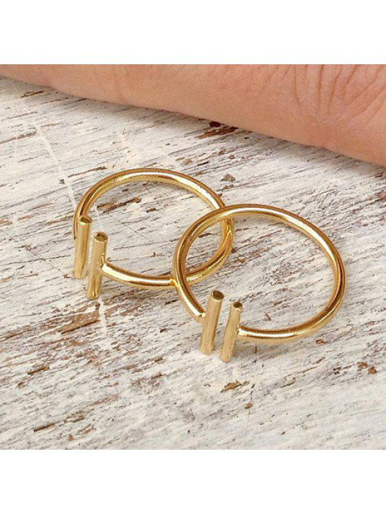 women's Simple Double Pipes Pattern Cuff Ring For Women    (ONE PIECE) - GOLDEN ONE-SIZE