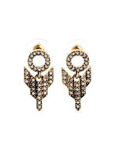 Pair Of Delicate Diamante Special Design Earrings For Women