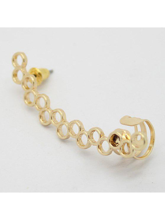 online One Piece of Chic Solid Color Openwork Earring For Women - GOLDEN