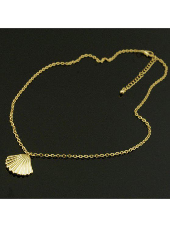 shop Fashion Shell Shaped Pendant Decorated Necklace For Women - GOLDEN