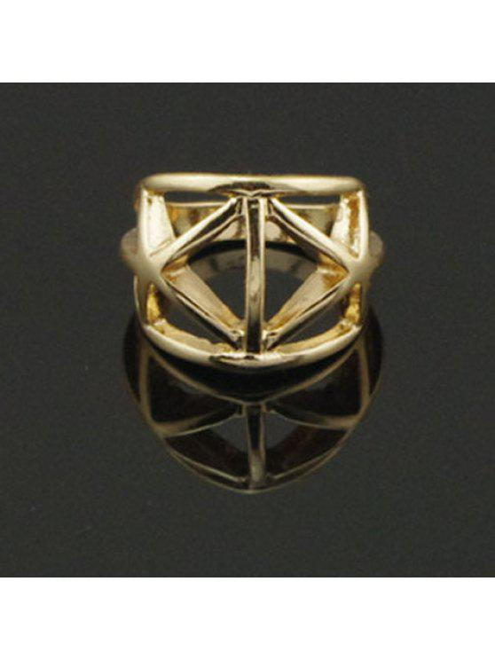hot Vintage Hollow Triangle Shaped Ring For Women - GOLDEN ONE-SIZE