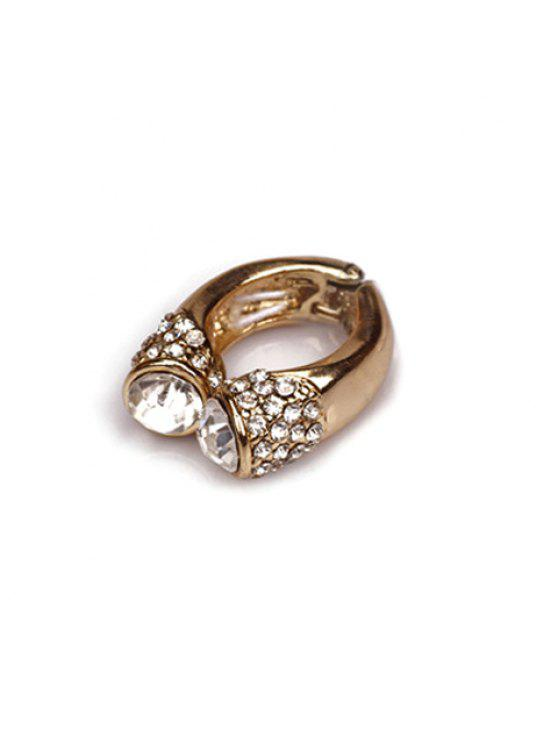 hot Trendy Rhinestoned Ring For Women - WHITE ONE SIZE