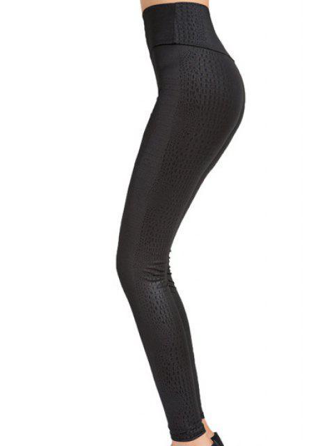 unique Stretchy Python Leggings - BLACK ONE SIZE Mobile