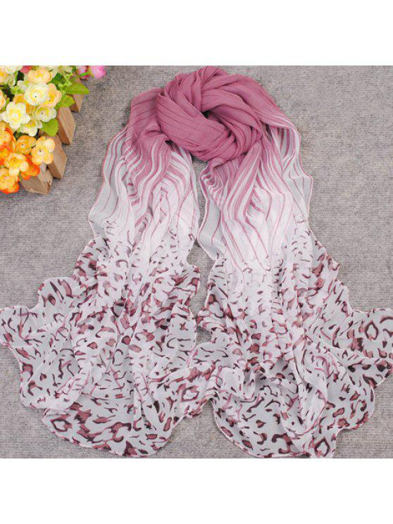 new New Gradient Color Irregular Print Anti-UV Scarf For Women - COLOR ASSORTED