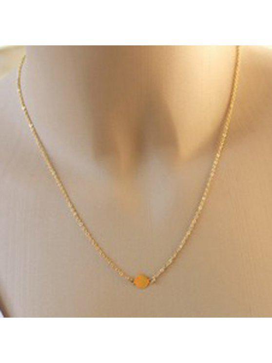 lady Stylish Women's Round Shape Pendant Necklace - GOLDEN