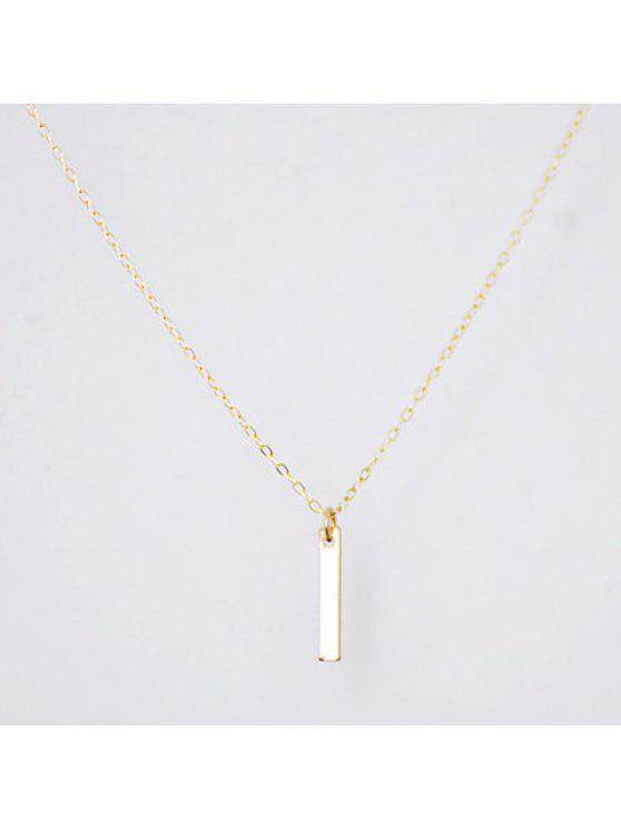 new Trendy Women's Solid Color Stick Pendant Necklace - GOLDEN