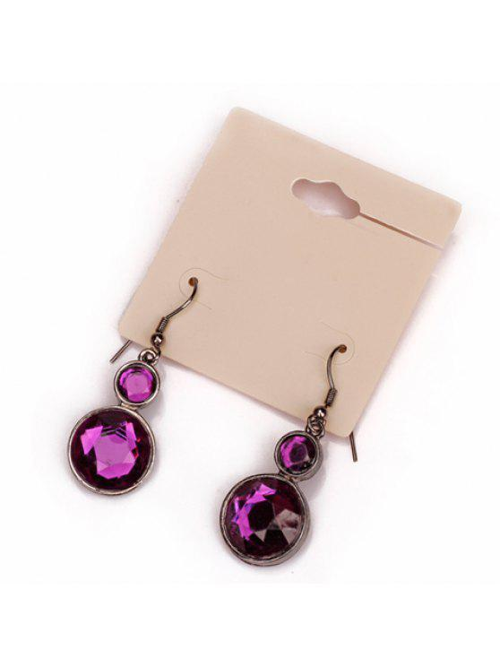 outfit Pair of Sweet Women's Beads Calabash Pendant Earrings - PURPLE