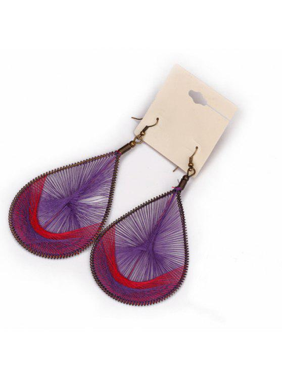 shop Pair of Retro Drop Pendant Earrings - AS THE PICTURE