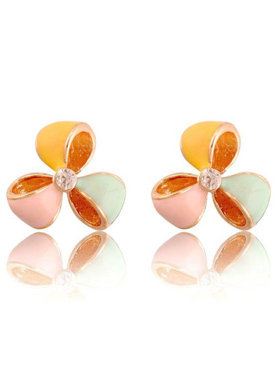 best Pair of Cute Rhinestone Leaf Women's Colored Earrings - AS THE PICTURE