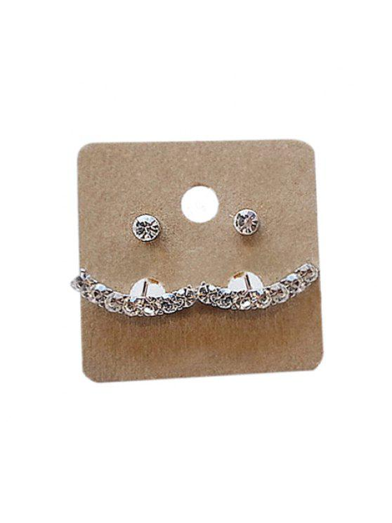outfits Pair of Fashion Rhinestone Embellished Arc-Shaped Pendant Earrings For Women - COLOR ASSORTED