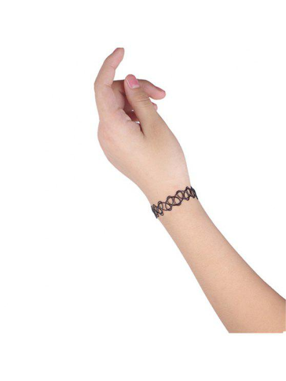 women's Chic Women's Solid Color Openwork Bracelet - BLACK
