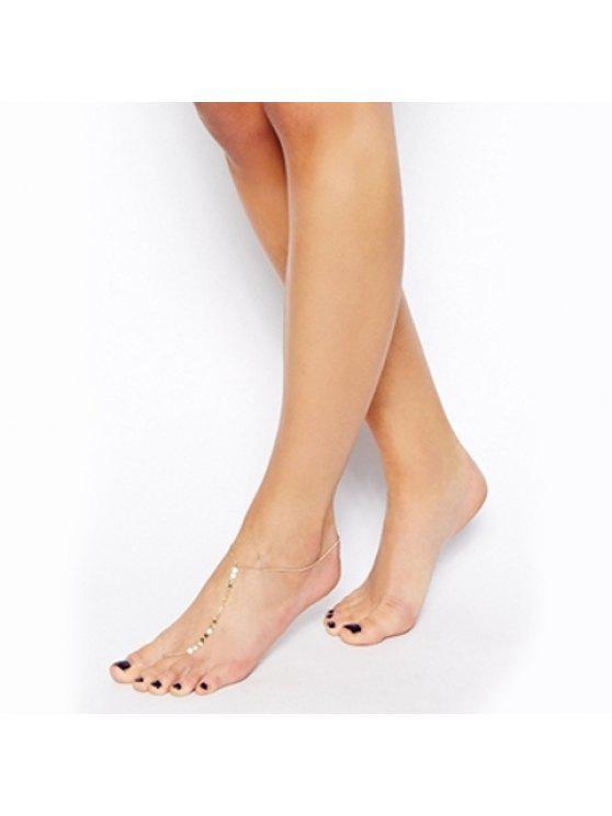 women's Chic Solid Color Sequins Embellished Anklet For Women - COLOR ASSORTED