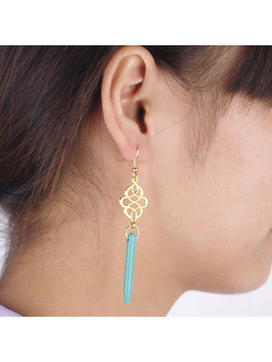 buy Pair of Stylish Tassel Embellished Openwork Earrings For Women - COLOR ASSORTED