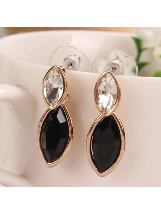 trendy Pair of Women's Shining Crystal Embellished Earrings - COLOR ASSORTED
