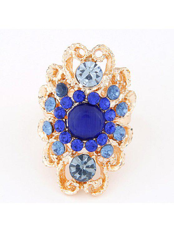 hot Glamourous Women's Faux Gem Embellished Special Shape Ring - COLOR ASSORTED