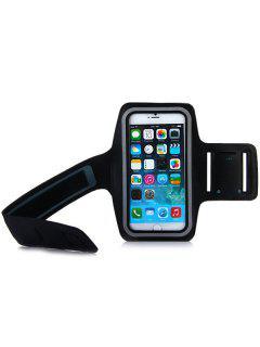 Dual Löcher Sport Weiche Taktilität Durable Armband Halter Tasche Lycra Schutzhülle Für IPhone 6 Plus - 5,5 Zoll - Schwarz
