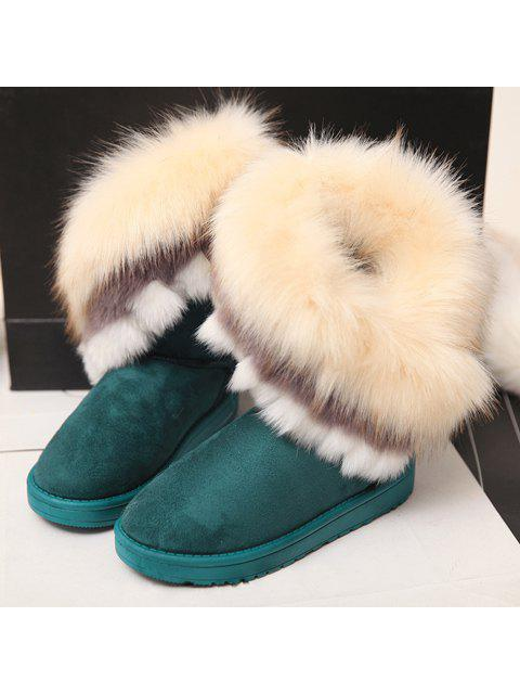 lady Faux Fur Snow Boots - GREEN 37 Mobile