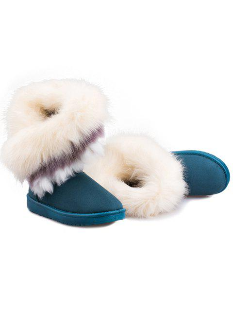 best Faux Fur Snow Boots - GREEN 38 Mobile