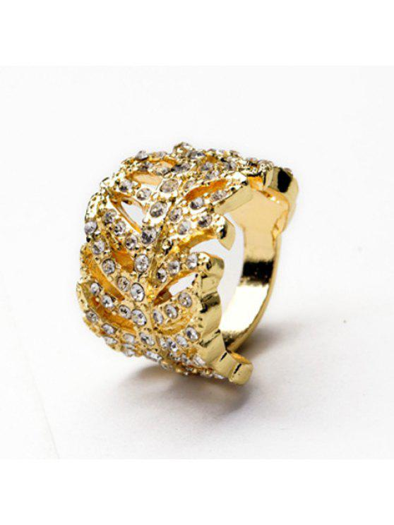 outfit Graceful Solid Color Rhinestone Embellished Women's Ring - GOLDEN ONE-SIZE