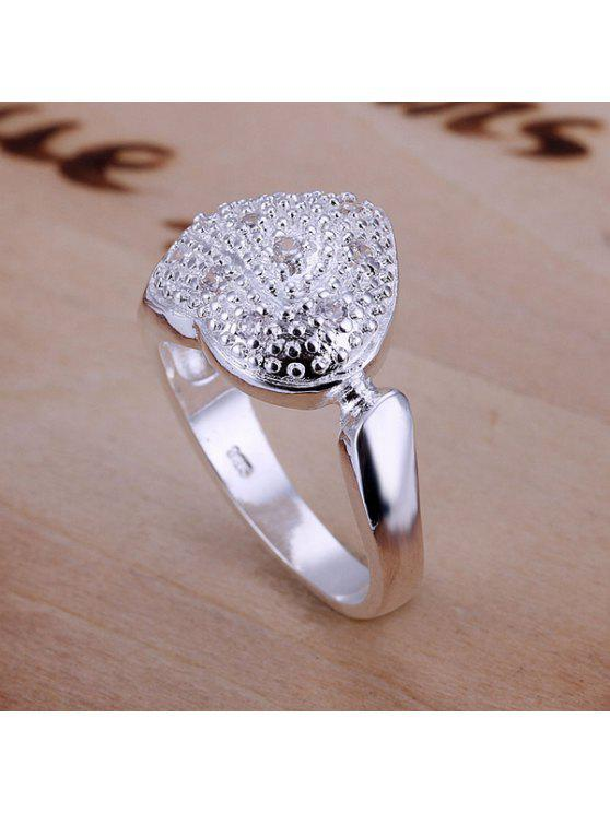 new Hot Sale Rhinestone Bezel Setting Heart Shape Ring - US SIZE 8