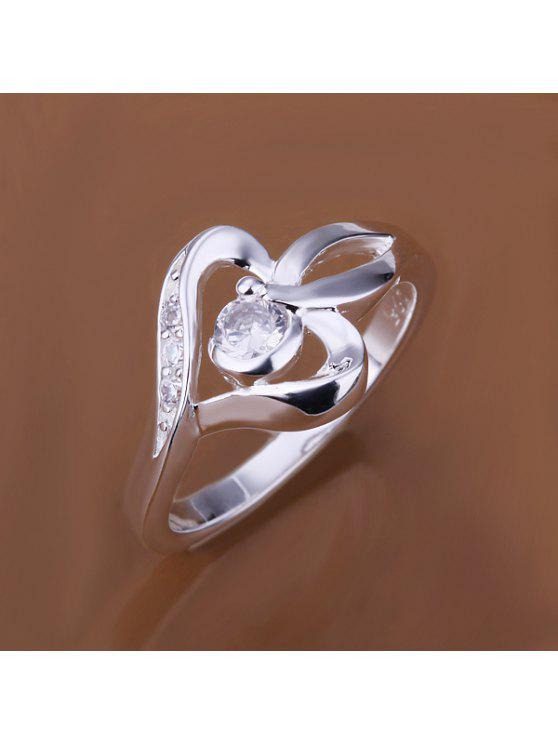 lady Fashionable Setting Diamond Heart Shape Ring