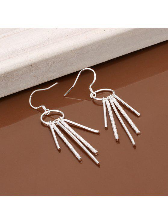 shops Pair Of Women's Five Pillars Of Earrings - SILVER LENGTH:5.7CM