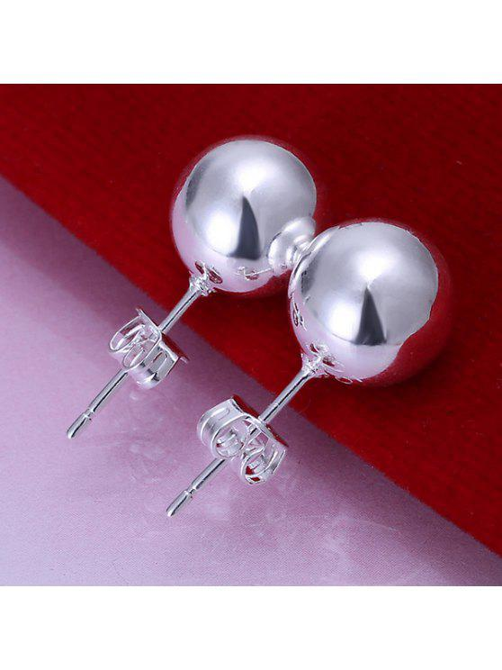 shop Pair Of Women's Beads Delicate Earrings - DIAMETER:1CM