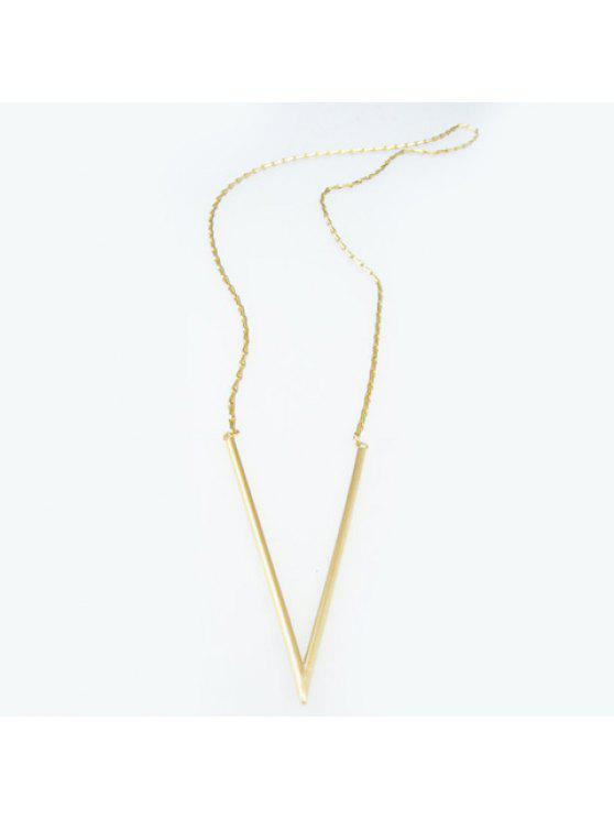 chic Delicate Solid Color V Shape Women's Sweater Chain Necklace