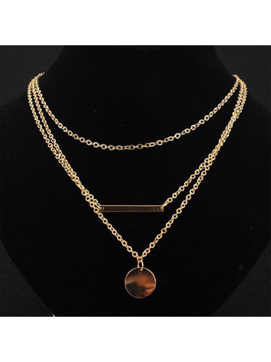 affordable Trendy Women's Solid Color Sequins Embellished Necklace - GOLDEN