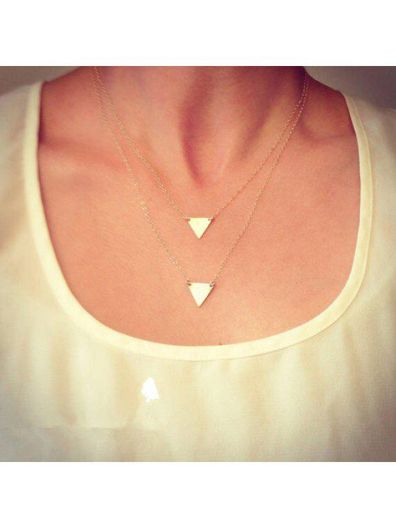 fancy Chic Solid Color Triangle Shape Pendant Multi-Layered Women's Necklace - AS THE PICTURE