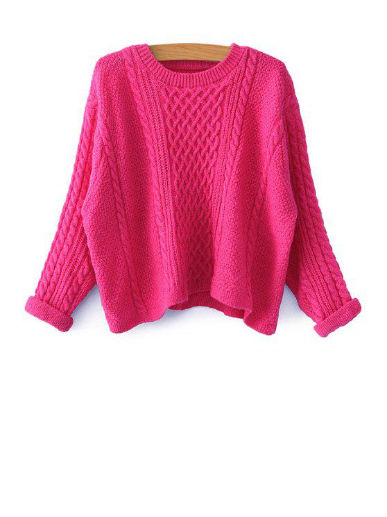 hot Solid Color Long Sleeve Sweater - PLUM ONE SIZE(FIT SIZE XS TO M)