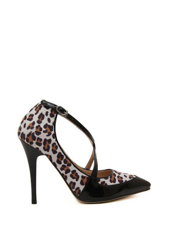 ladies Sexy High Heel Leopard Print Pumps - LEOPARD 35