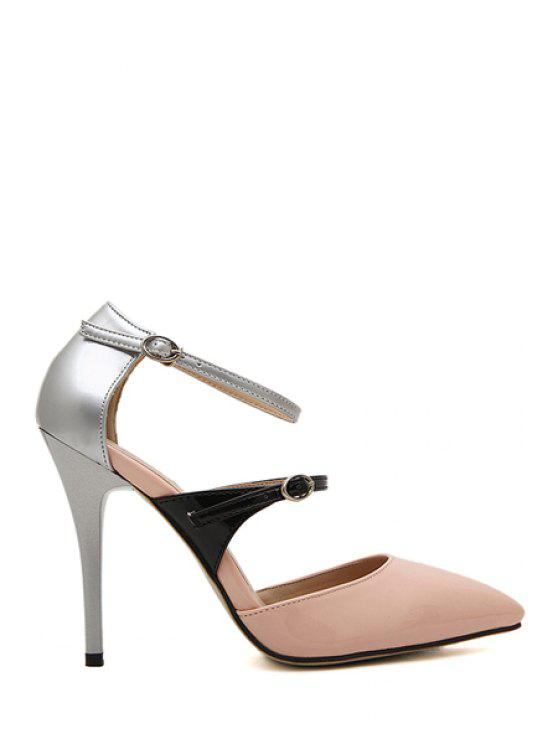 outfits Sexy High Heel Color Block Pumps - PINK 38