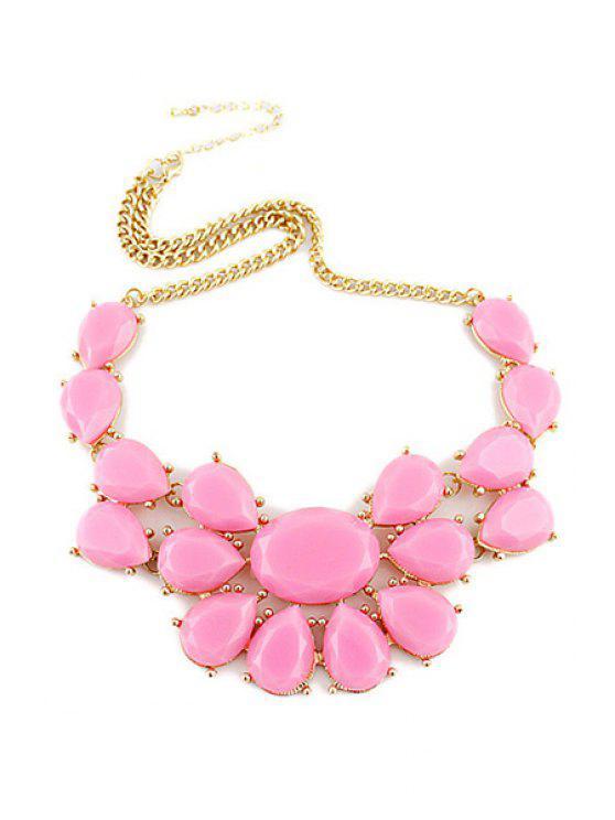 shop Candy Color Floral Pendant Necklace - PINK