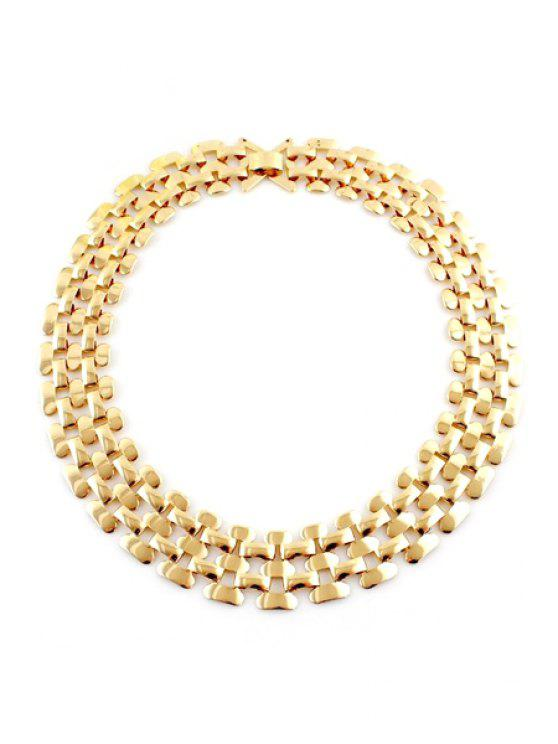 fashion Chain Design Openwork Necklace - GOLDEN