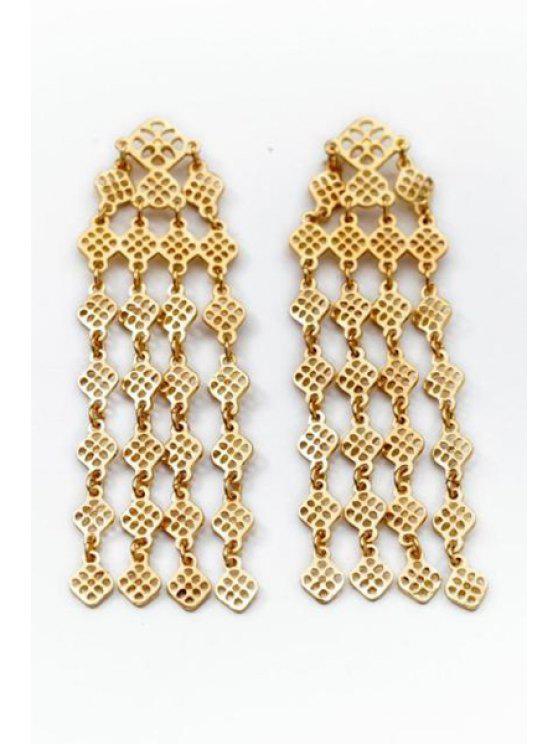 affordable Pair of Tassel Embellished Earrings - GOLDEN