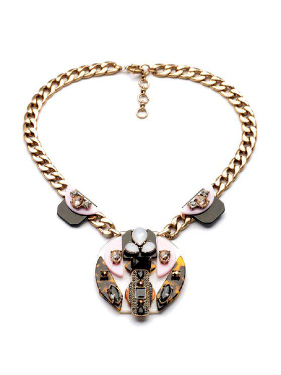 latest Rhinestone Leopard Print Necklace - AS THE PICTURE