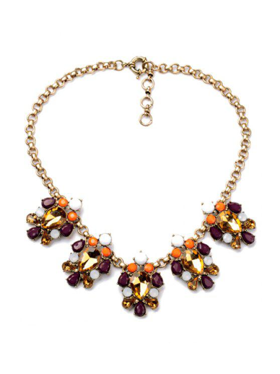shop Faux Gem Pendant Necklace  - AS THE PICTURE